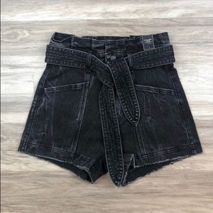Abercrombie Paperbag Denim Shorts.